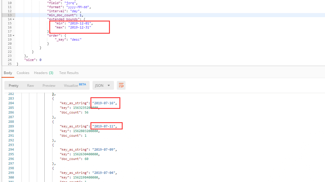 Elasticsearch按照日期聚合